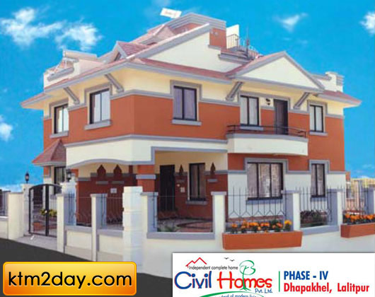 Civil homes phase4 for Photos of house design in nepal