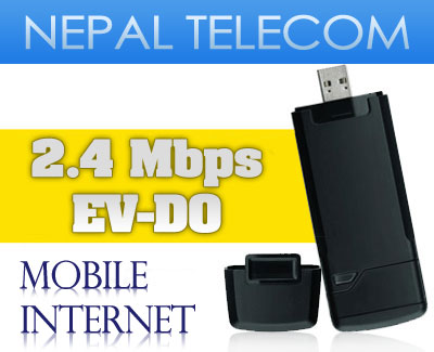 Nepal Telecom's new wireless broadband (2 Mbps EV-DO)