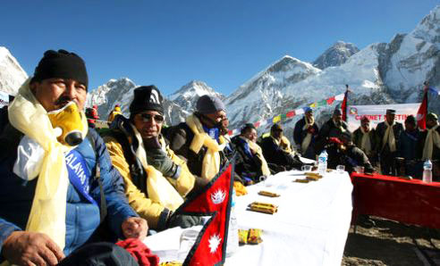 Cabinet meeting at Mt. Everest