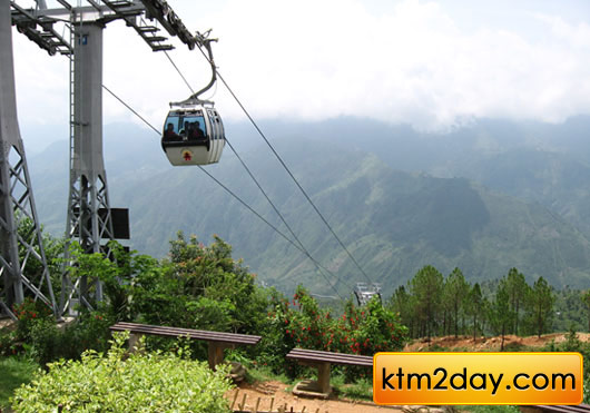 Two new Cable cars on the outskirts of Kathmandu Valley