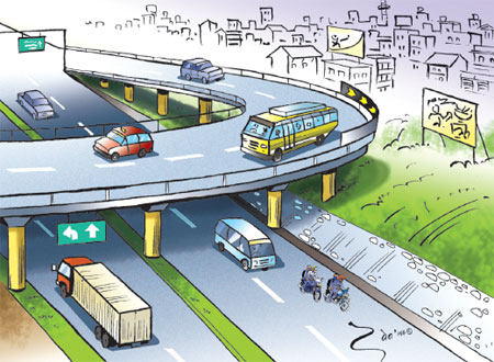 Flyovers to solve traffic jams in Kathmandu
