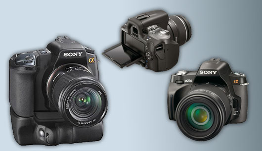 Sony's new line-up of Digital SLR