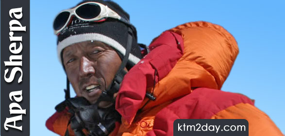 Apa Sherpa ascends Mt. Everest record 20th time
