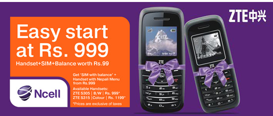 Ncell offering cheapest handsets at Rs.999