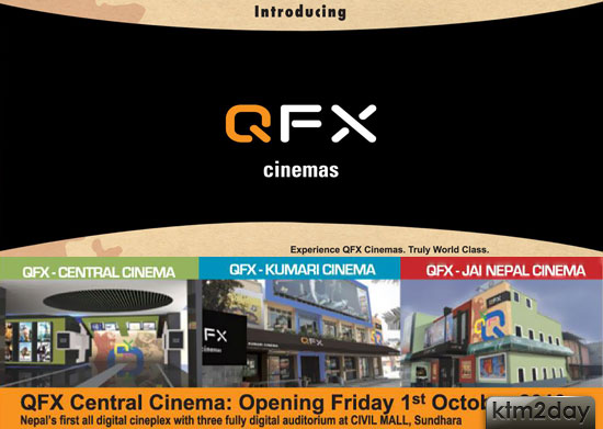 QFX-Central Cinema opening at Civil Mall Sundhara