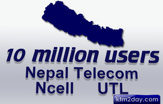 Telecom subscribers figure in Nepal crosses 10 million mark