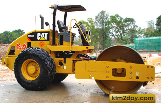 Caterpillar brings CS-533e vibrating soil compactor in Nepal