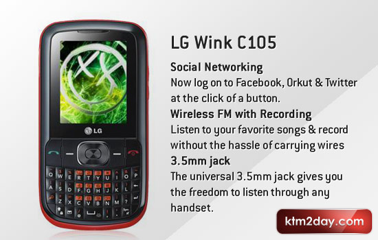LG Wink C105 Specs with Price in Nepal