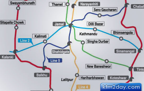KATHMANDU VALLEY METRO INCEPTION REPORT : 66-km network, 5 lines, 31 stations