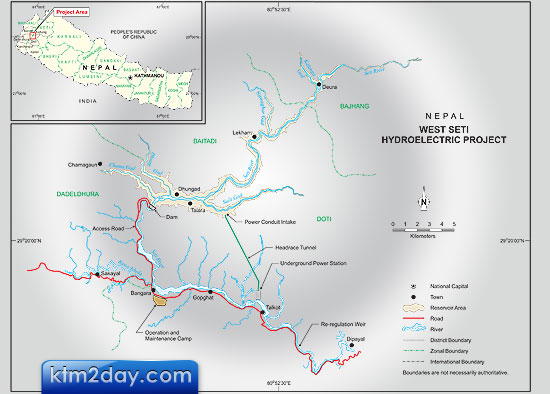 Chinese firm to construct West Seti Hydro Project