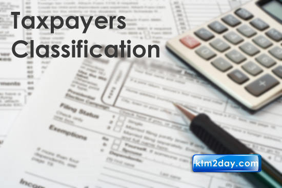 Taxpayers to be classified as big, medium, small, micro