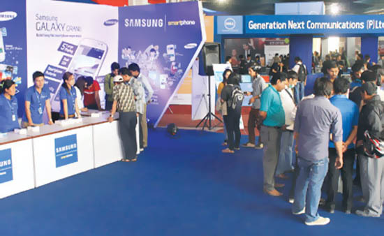 Excited crowds throng ICT fair