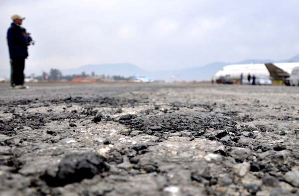 Damaged TIA runway affects flights