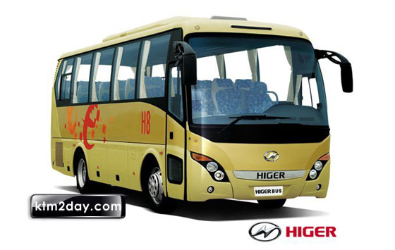 Higer Company of China manufactured buses enter Nepali market
