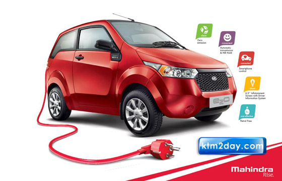 Mahindra e2o electric car launched in Nepal