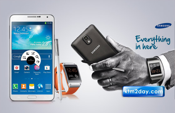 Samsung Galaxy Note 3, Gear launched in Nepal