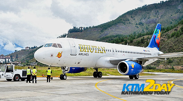 Bhutan Airlines starts flights to Kathmandu from today