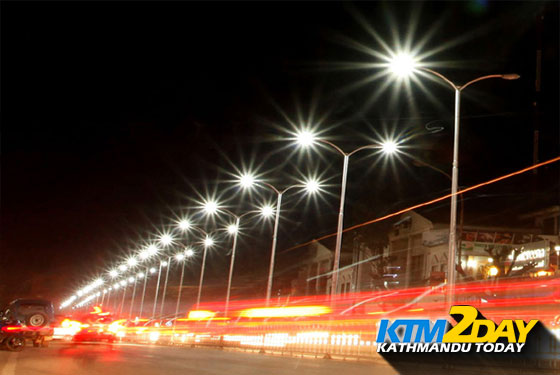 Kathmandu's major streets to get solar-powered street lamps