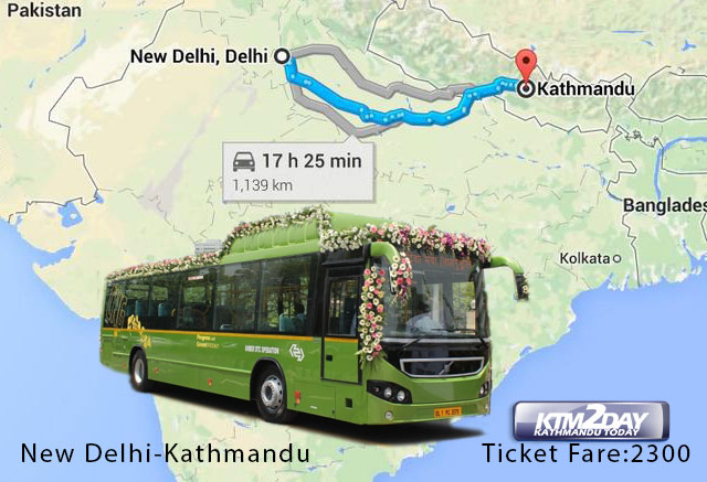 Kathmandu-Delhi bus service to begin today
