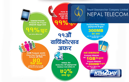 Nepal Telecom introduces Anniversary Offer