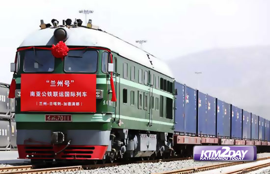 China‬ opens its first combined transport service to ‎Nepal‬