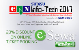 E-sewa offers 20% discount on CAN Infotech tickets