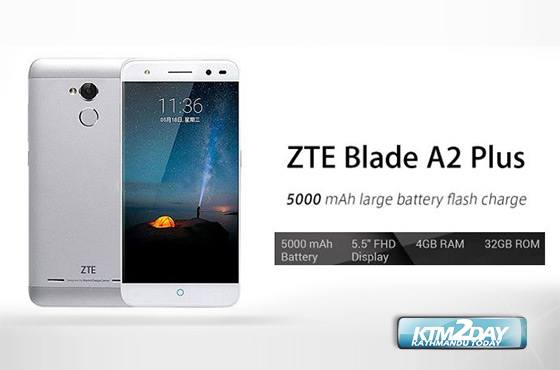 ZTE BLADE A2 Plus launched in Nepali market