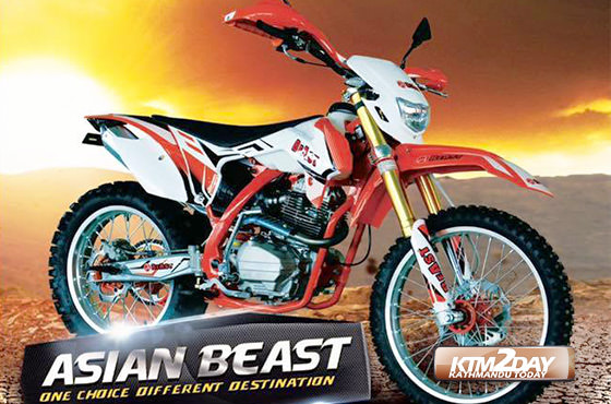 Asian Beast 250cc launched in Nepal