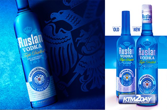 Ruslan Vodka comes in new packaging