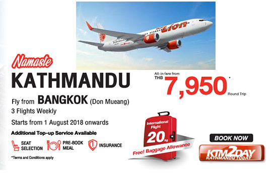 Thai Lion Air begins flights to KTM