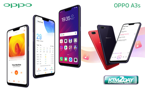 Oppo A3S launched in Nepali market