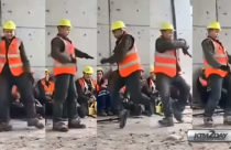 Construction worker dance video goes viral in social media
