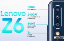 Lenovo Z6 to come with 24 MP main sensor in a triple camera setup