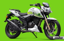 TVS Apache RTR 200 Fi E100 launched; First Ethanol powered motorcycle